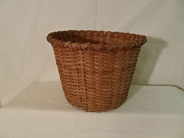 "#133 Antique Handmade Basket - 11"" w x 8 3/4"" h - $35"