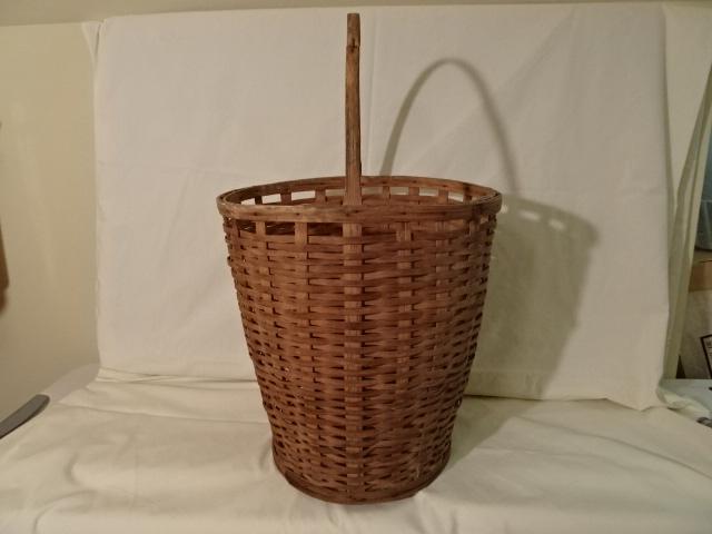 "#143 Antique Handmade Tall Nantucket Basket - 13 1/2""x 11"" round x 14"" h, plus 8"" handle  - $135 firm (RLTH)"